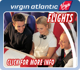 Advertisement for Virgin Atlantic flights, click for more details
